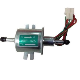 New Gas Inline Low Pressure Electric Fuel Pump 12V Gold - intl