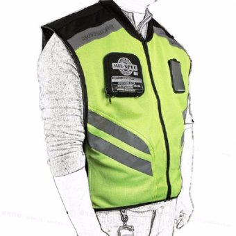 NEW Riding Tribe motorcycle reflective vest motorbike vest racing motorcross reflective vest warning with mesh high visible - intl