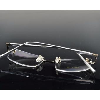 NEW RIMLESS Titanium ALLOY SILVER LEG GLASSES FRAME - 5