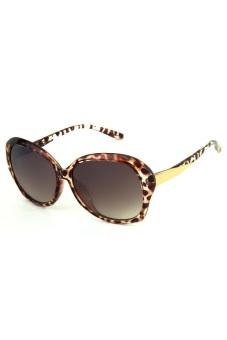 Newyork Army 8001 Retro Square Sunglasses - Leopard - picture 2