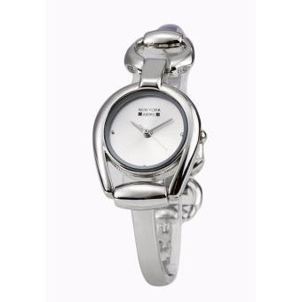 Newyork Army Analog Jewelry Bangle Ladies Silvertone Watch NYA187