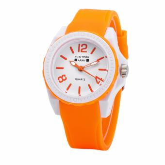 Newyork Army NYA1348 Jelly Silicone Ladies Watch - Orange