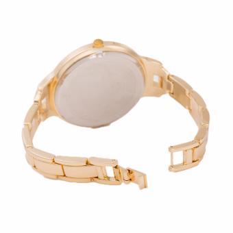 Newyork Army NYA194 Goldtone Strap Glitz Bezel Stainless Steel Watch For Women - 3