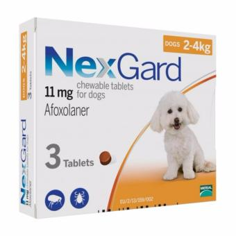 Nexgard Anti Tick and Flea Chewable Tablets For Dogs 2-4kg