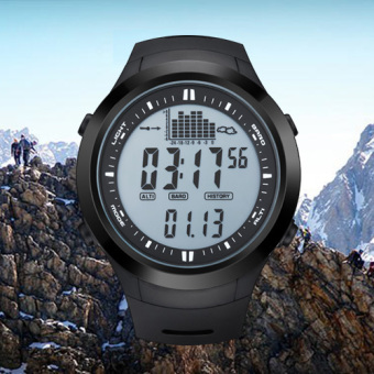 NORTH EDGE digital watches Men Watch with Weather forecastAltimeter Barometer Thermometer Altitude for Climbing HikingFishing Outdoor sports /Grey screen