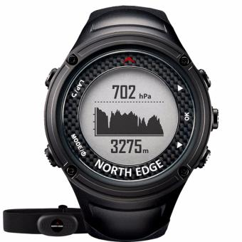 NORTH EDGE Men's GPS Sports watch Digital watches Water resistantmilitary Heart Rate Altimeter Barometer Compass running hikingswimming