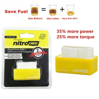 OBD2 Performance Tuning Chip Box Saver Gas/Petrol Vehicles Plug & Drive Yellow - intl Price Philippines