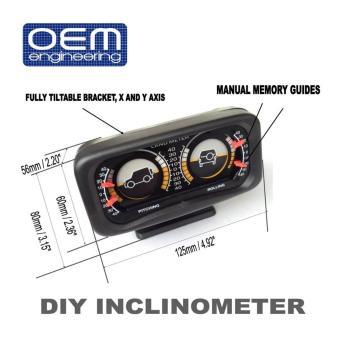 OEM Engineering DIY car Inclinometer 4X4 Offroad Car Gauge Carcompass - 5