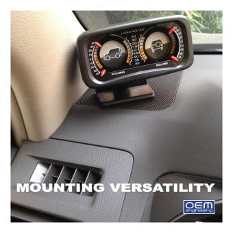 OEM Engineering DIY car Inclinometer 4X4 Offroad Car Gauge Carcompass - 2