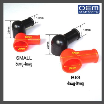 OEM Engineering Motorcycle Battery Terminal Covers (Lug TerminalBoots) 1Big 1Small