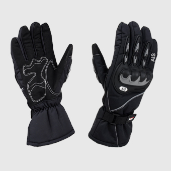 Off-road motorcycle winter waterproof warm full finger gloves