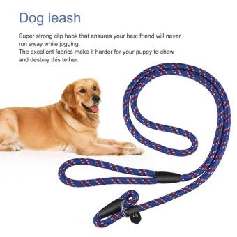 OH Best Soft Dog Training Leash Chew Resistant Nylon Ergonomic Anti Slip Grip Blue - intl - 2
