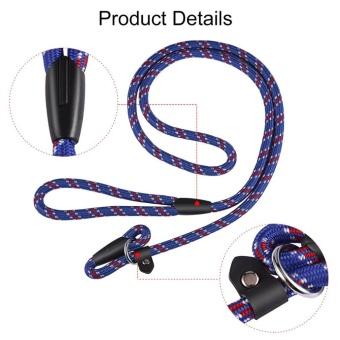 OH Best Soft Dog Training Leash Chew Resistant Nylon Ergonomic Anti Slip Grip Blue - intl - 3