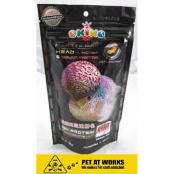 Okiko Platinum Head Huncher & Color Faster (100g) For FlowerHorn Food Pellet Price Philippines