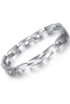 Olen Titanium Steel Chain Male Bracelet (Silver)