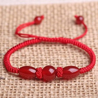 Opening natal natural red agate red string bracelet Ms. male couple models red bracelets red crystal jewelry -B