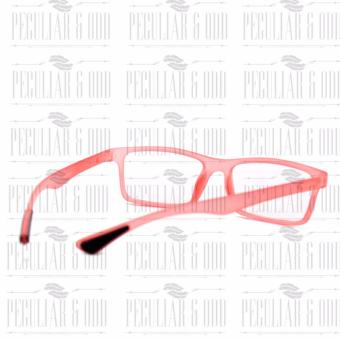 Optical Rubberized Frame XQY7926_TransRed Rectangular Computer Eyeglasses Anti Glare Replaceable Lens with Rubberized Template Stopper - 5