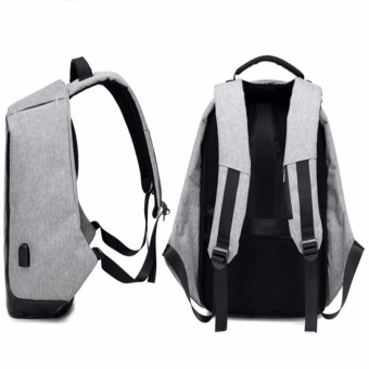 Original Design Anti Theft Backpack /Water repellent/ Cut Resistance/ Travel/ Laptop/External USB Port Charge - intl - 3