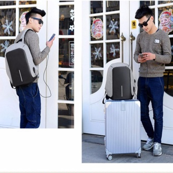 Original Design Anti Theft Backpack /Water repellent/ Cut Resistance/ Travel/ Laptop/External USB Port Charge - intl - 5