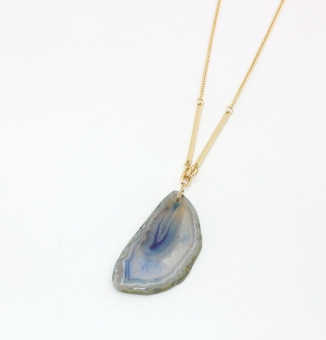 Original stone charge color necklace natural agate