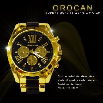 Orocan Three Eyes Strip Women's Two-Tone Stainless Steel StrapWatch (Black/Gold) BUY 1 TAKE 1 - 2