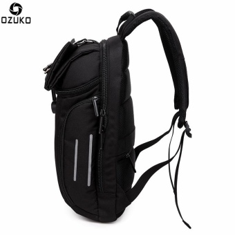 OZUKO Waterproof Oxford 15-inch Laptop Backpack Large CapacityBusiness Backpack Anti-theft Reflective Travel Bag Fashion SchoolBag - intl - 5
