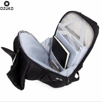 OZUKO Waterproof Oxford 15-inch Laptop Backpack Large CapacityBusiness Backpack Anti-theft Reflective Travel Bag Fashion SchoolBag - intl - 4