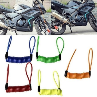 PAlight 5pcs Motorcycle Bike Scooter Alarm Disc Lock Security Spring Reminder Cable - intl