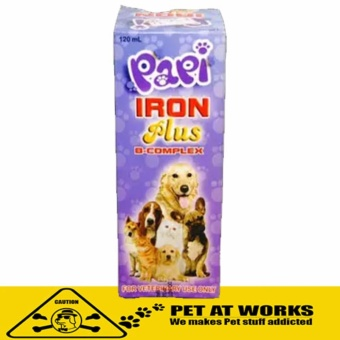 Papi Iron Plus with B Complex (120ml) for All breed Pets
