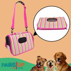 PHP 569. Paws UP Portable Foldable Pet Carrier Travel Bag printed stripes ...