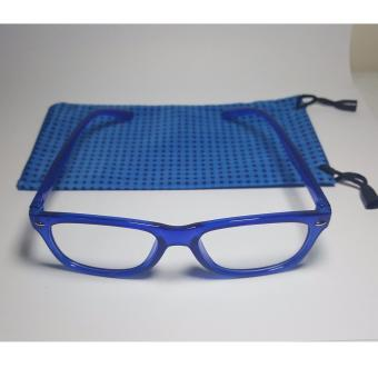 PC TV Anti Radiation And Fatigue Non Fatigue Square Eye Glasses (BLUE) - 2