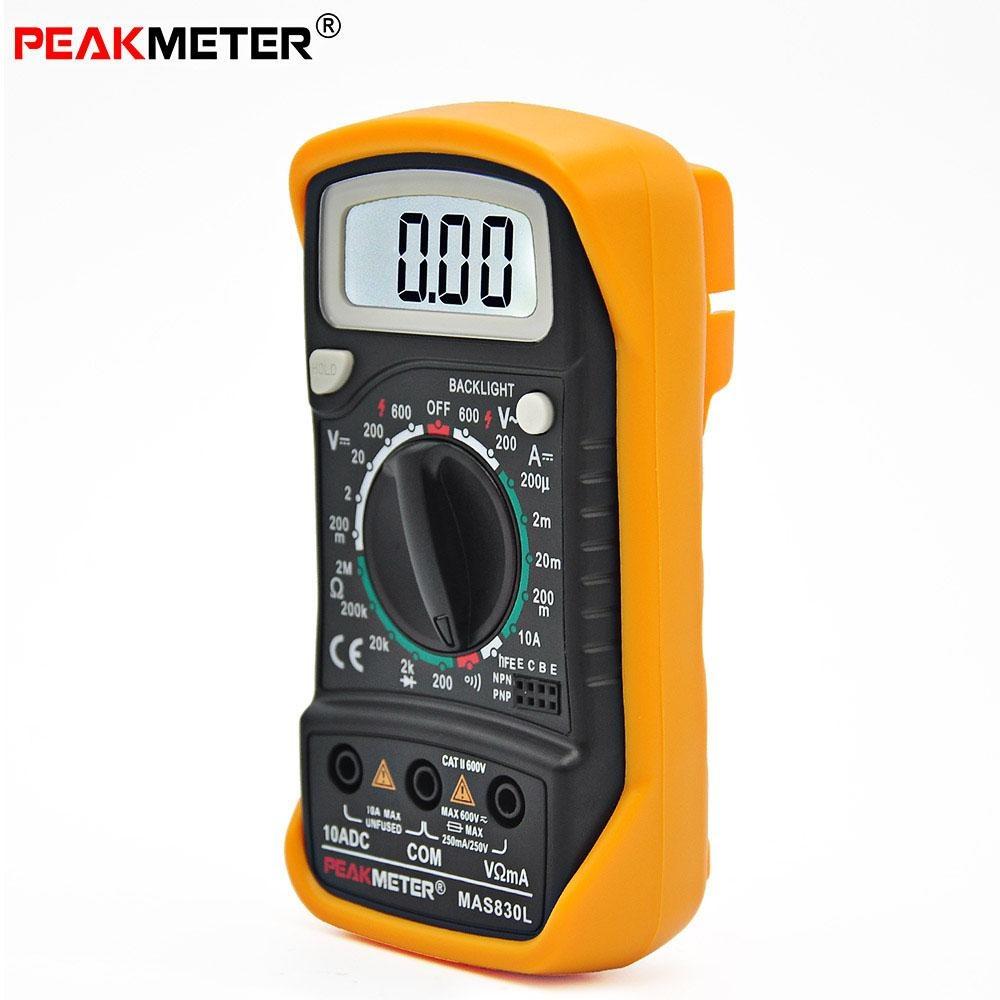 Philippines Peakmeter Mas830l Digital Multimeter Ac Dc Voltage And Circuits Current Resistance Multitester Intl