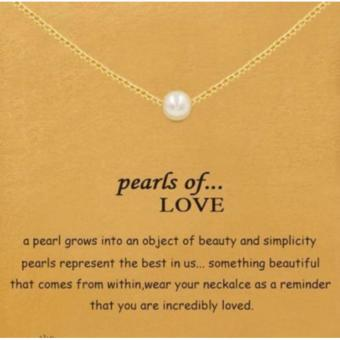 PEARLS OF LOVE pendant necklace gold dipped 06 grams