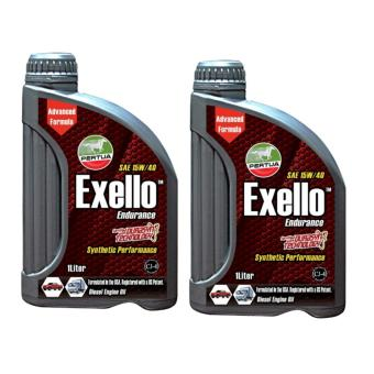 Pertua Exello Synthetic Performance Diesel Engine Oil SAE 15W/40 1L Bundle of 2
