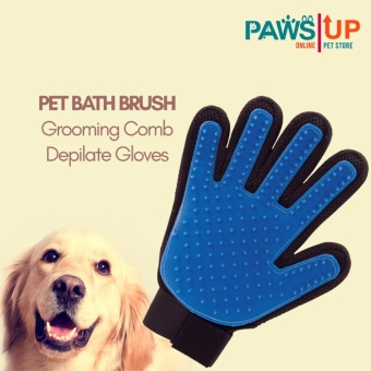 Pet Bath Brush Grooming Comb Rubber Depilate Gloves  for Dogs