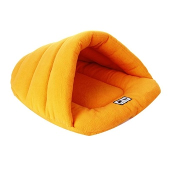 Pet Cat Bed Small Dog Puppy Kennel Sofa Polar Fleece Material PetBed - Orange XS - intl - 2