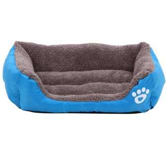 Pet Dog Cat Bed Puppy Cushion House Pet Soft Warm Kennel Dog MatBlanket (Blue) (S) - intl