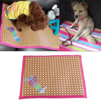 Pet Dog Cat Sleeping Cooling Mats Cushion Double Side Puppy SummerPad (Pink S) - intl