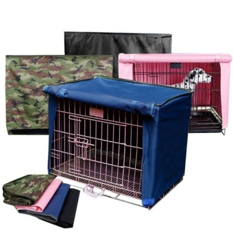 Pet Dog Crate Cage Kennel COVER Breathable Outdoor Waterproof Size19?-36? L Camouflage green - intl - 5