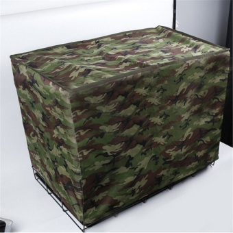 Pet Dog Crate Cage Kennel COVER Breathable Outdoor Waterproof Size19?-36? L Camouflage green - intl - 2
