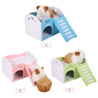 Pet Hamster/Mice Guinea Pig Small Animal Play Castle Sleeping House/Nest(Green) - intl - 2
