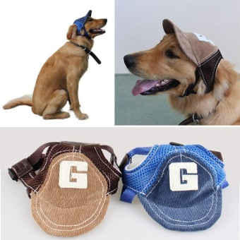 Pet Puppy Dog Cap Baseball Sunhat Adjustable Corduroy Hat Costume(S) - intl - 4
