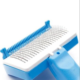 Petzoom Self Grooming Brush (Blue) - 3