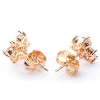 Piedras APL11 Cubic Zirconia Earrings (Yellow Gold) - picture 2