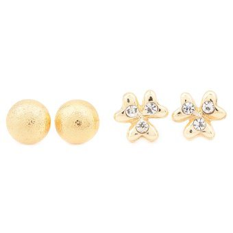 Piedras APL62 Two In One Earrings (Yellow Gold)