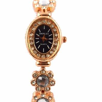 Piedras Bijoux Gold Plated Bracelet with Crystal and Ladies Fashion Watch with Crystal - 2