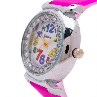 Piedras Women's Fushia Silicone Strap Watch wt09 - picture 2