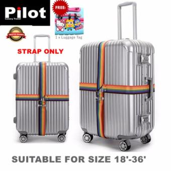 Pilot NP-004 Luggage Strap Cross Style 4 Meter (Rainbow)With FREELuggage Tag
