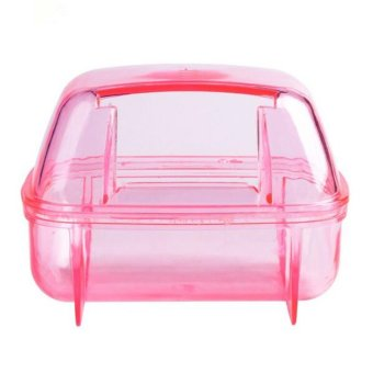 Plastic Pet Hamster Sauna Room Deodorizing Small Animal HamsterSand Bath Room Bathroom Potty 2 Colors - intl - 2