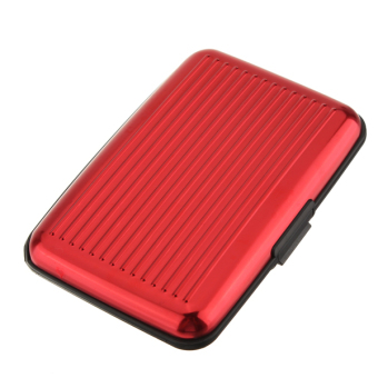 Pocket Business ID Credit Card Wallet Holder Case Box (Red)